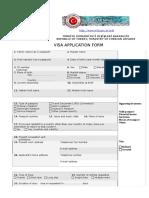 Turkey Visa Form