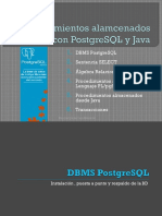 Procedimientos Alamcenados Con PostgreSQL y Java
