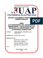 Los Paradigmas Del Desarrollo Empresarial y Evolucion de Los Negocios La Creatividad Como Estrategia Competitiva Monografias Uap