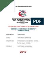 Monografia de Estrategia Para Paquete de Promoción y Estrategia de Precio en Dcto y Compensación