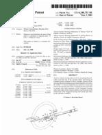 Steering wheel lock (US patent 6240753)