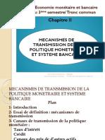 Mecanismes de Transmission de La Politique Monetaire