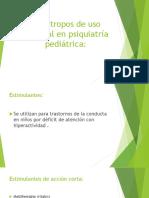 Psicótropos de uso habitual en psiquiatría pediátrica