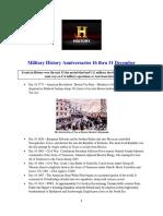 Military History Anniversaries 1216 Thru 123115