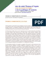 Commentaire de la politique d'Aristote (1).doc