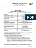 Plumbing Fixture Flow Rate Tables (Non Residential)