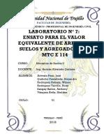 EQUIVALENTE DE ARENA