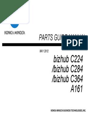 Konica Minolta Bizhub C224 C284 C364 Parts Manual