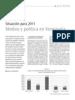 Situación Para 2011 Medios y Política en Venezuela