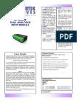 Manual analógico Driver Bardac
