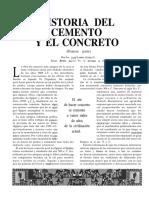 Historia Del Cemento y El Concreto
