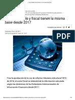 » Costo Contable y Fiscal Tienen La Misma Base Desde 2017