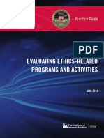 Evaluating Ethics Related Programmes and Activities (1)
