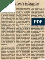1986-01 - Folha SP - Walter Ceneviva - Direito de Ser Informado