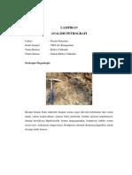 LAMPIRAN Analisis Petrografi