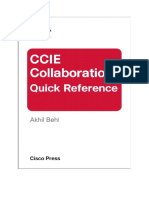 CCIE Collabration Quick Refference