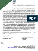 Contrato de Condiciones - Modificacion