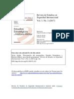 Revista de Estudios en Seguridad Internacional