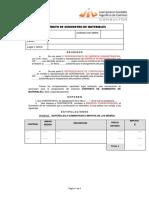 Contrato de MATERIALES
