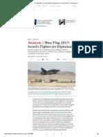 Blue Flag 2017_ Israel's Fighter-jet Diplomacy - Israel News - Haaretz