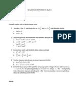 Soal Matematika Peminatan Kelas Xi
