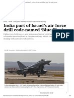 India Part of Israel's Air Force Drill Code-named 'Blue Flag' _ the Indian Express