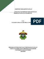 Trend Penelitian Komponen Bioaktif Dan Produk Pangan Fungsional