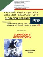 Cloracion y Desinfeccion 2014