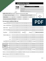Iesmaster Admission Form 2018 Delhi