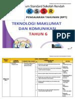 RPT Teknologi Maklumat & Komunikasi Tahun 6 2018