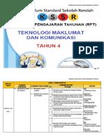 RPT Teknologi Maklumat & Komunikasi Tahun 4 2018