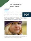 10 Formas Efectivas de Castigos Para Niños