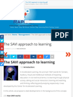 The SAVI Approach to Learning