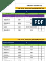 Inventario de Epps - Uniforme