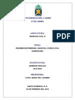 Los Regimenes Matrimoniales Segun El Codigo Civil Dominicano