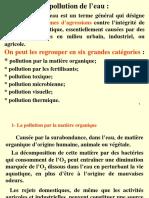 1 Paramètres de Pollution de l Eau