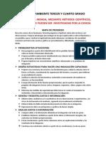 CIENCIA Y AMBIENTE DE 3° Y 4° GRADO 2015