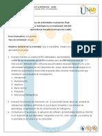 Evaluacion Final y Rubrica de Evaluacion  inteligencia y creat 401509