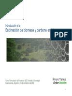 Estimación de Biomasa y Carbono en Biomasa