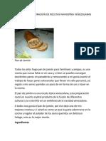 Manual de Elaboracion de Recetas Navideñas Venezolanas