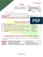 Ficha Informativa - Divisão Silábica