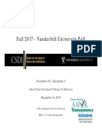 Vanderbilt University Poll of Tennesseans - December 14, 2017