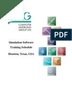 2018 Training Schedule