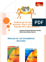 Analisis de Los Documentoss Rectores Plan y Programas de Estudio de 2011 Primaria