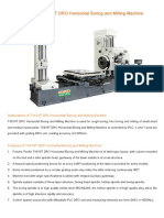 DRO Horizontal Boring and Milling Machine TX619T