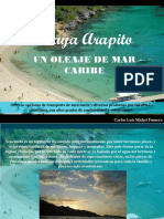Playa Arapito, Un Oleaje de Mar Caribe