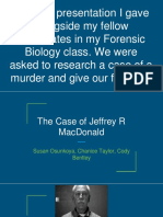 forensic biology presentations  jeffrey macdonald