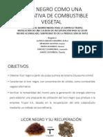 LICOR NEGRO COMO UNA ALTERNATIVA DE COMBUSTIBLE VEGETAL.pptx