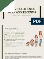 Desarrollo Físico de La Adolescencia