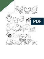 Animales Para Hacer Cuaderno de Fonemas